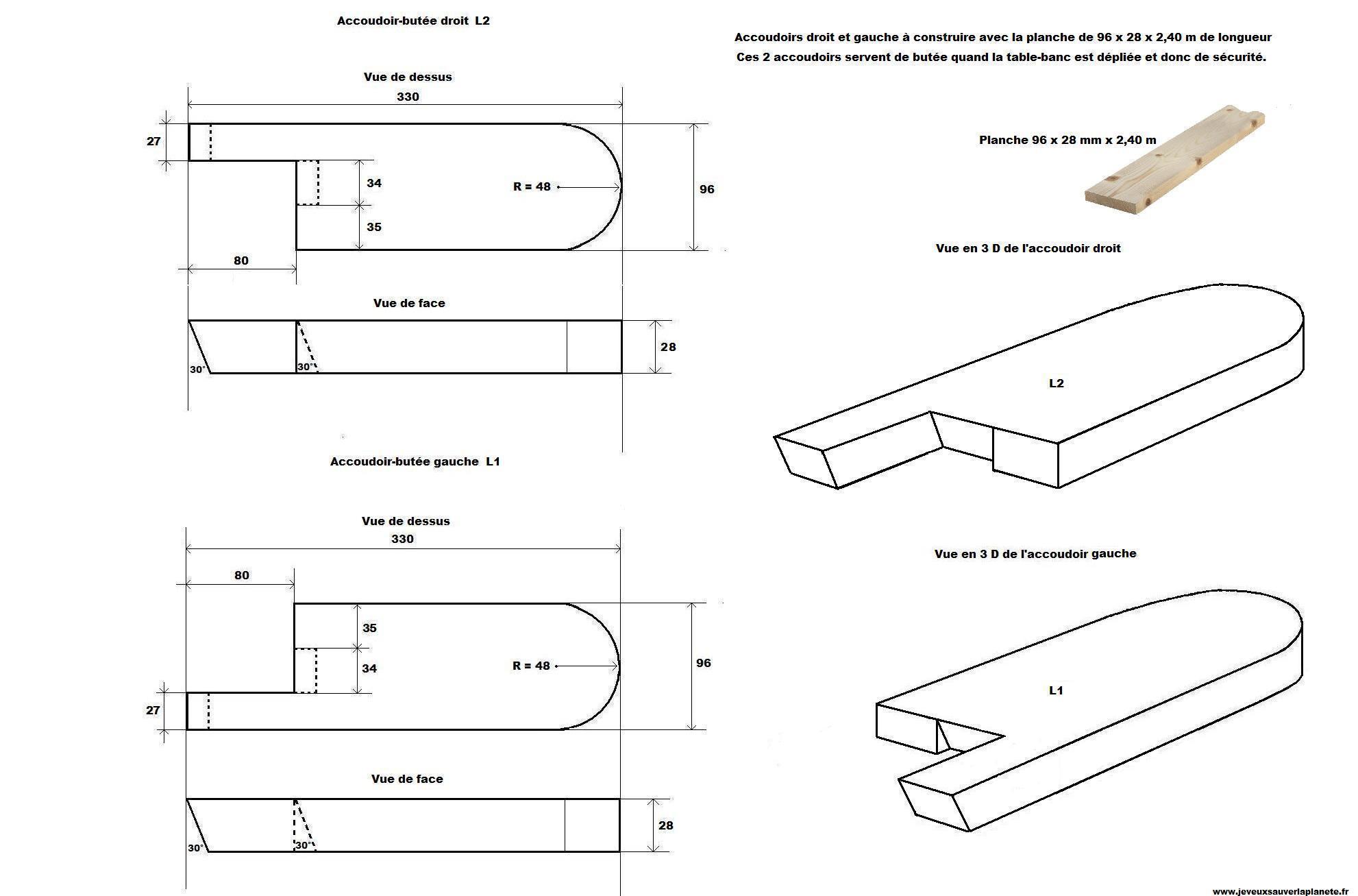 j'ai construit un banc transformable en table de pique-nique pour