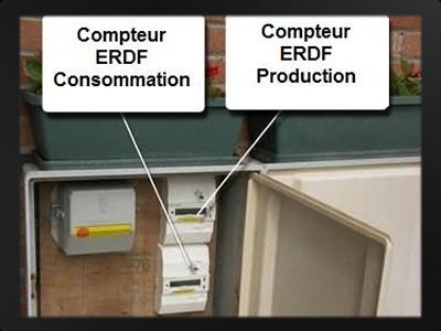 Installation centrale solaire photovolta que - Compteur de production photovoltaique ...