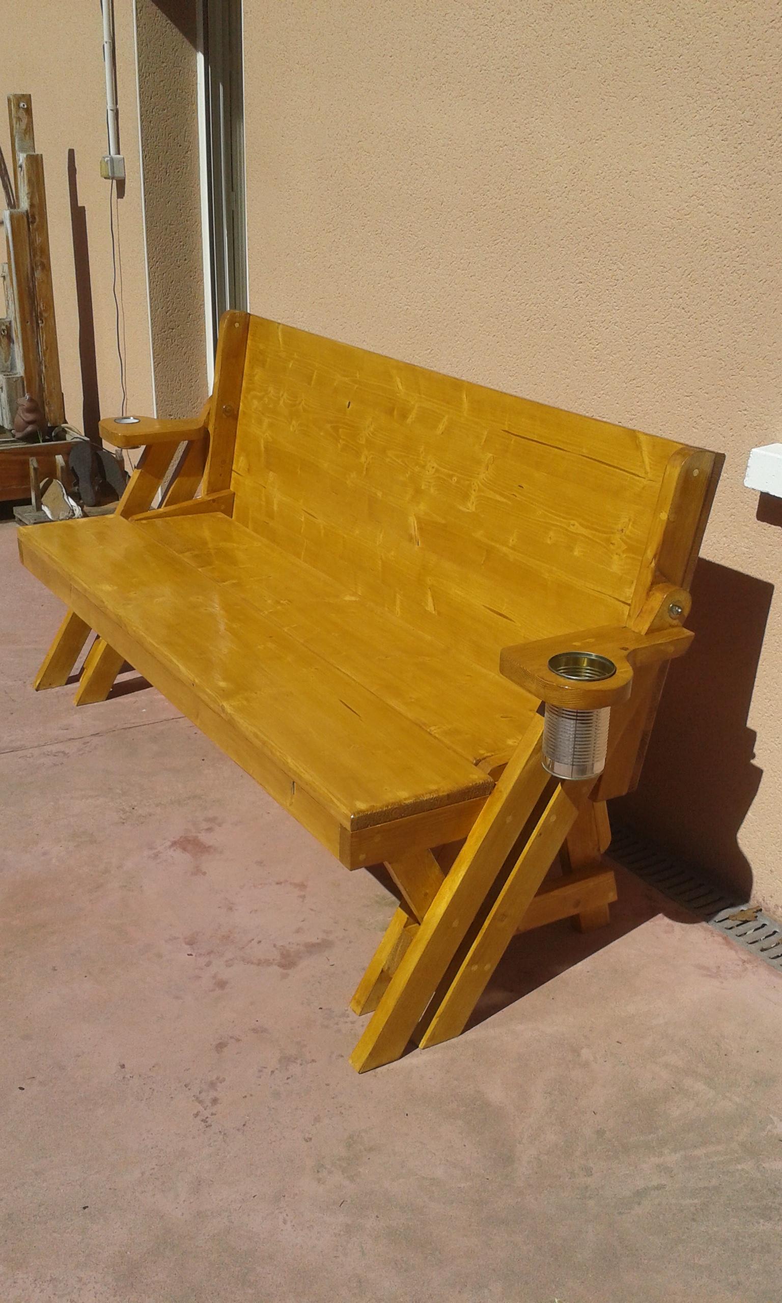 Enlever Brou De Noix Mains j'ai construit un banc transformable en table de pique-nique